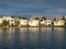 Vegas Lake Homes Sunset Stock Images