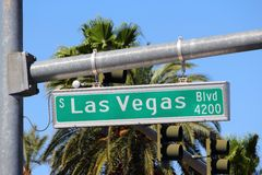 Vegas lasów bulwarów Obraz Royalty Free