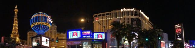 Vegas nachts stockfotos