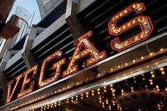 Vegas neon sign Royalty Free Stock Image