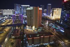 Vegas Night Aerial Royalty Free Stock Photography
