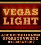 Vegas Night Font Royalty Free Stock Images
