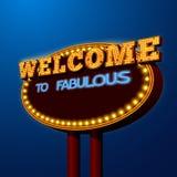 Vegas night life billboard sign poster. Entertainment vegas night life gambling disco dance nightclubs  advertising shiny lights billboard poster vector Stock Image