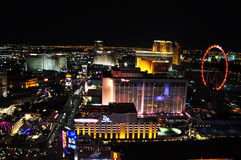Vegas at night with red wheel stock images