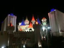 Vegas på natten royaltyfri fotografi