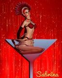 Vegas Showgirl Sabrina στοκ εικόνα με δικαίωμα ελεύθερης χρήσης