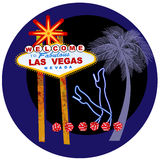 Vegas sign and dancers legs in neon Stock Photo