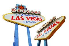 Vegas Sign Isolated Stock Photo