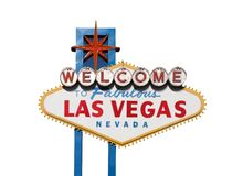 Vegas Sign Isolation. Famous Welcome to Las Vegas sign in Nevada USA Royalty Free Stock Images