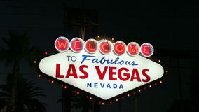 Vegas Sign Night stock footage