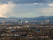 Vegas Skys. Mountain top view of winter storm clouds over Las Vegas Royalty Free Stock Images