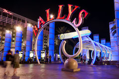 Vegas-Streifen nachts lizenzfreie stockfotografie