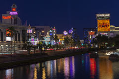 The Vegas Strip Reflecting in Water in Las Vegas, NV on June 05, Stock Images