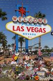 Las Vegas memorial at historic Welcome sign Stock Image