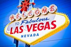 Vegas tecken Arkivfoto