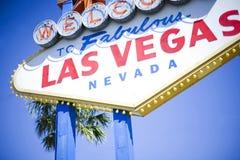 Vegas-Zeichen Stockfoto