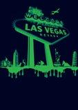 Vegas zielone Zdjęcia Stock