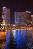 Vegashorizon die in meer weerspiegelen royalty-vrije stock foto's