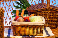 Vegatable basket Stock Photos