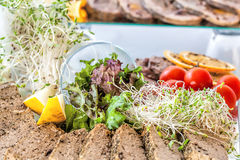 Vegatables with pate Royalty Free Stock Image