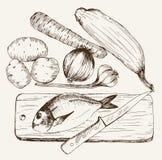 Vegatables y pescados Imagen de archivo