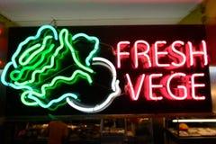 Vege neon signage Royalty Free Stock Photo
