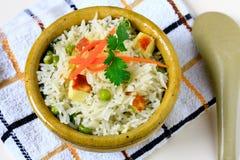 Vegeatairan Fried Rice Arkivfoto