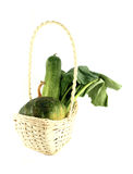 Vegerables mix in basket Royalty Free Stock Photos