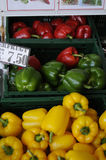 VEGES胡椒和和苹果计算机果子待售 免版税图库摄影
