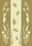 Vegetação com borboleta Fotografia de Stock Royalty Free