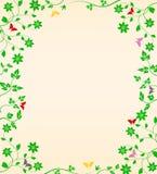 Vegetação floral com borboletas Imagem de Stock Royalty Free