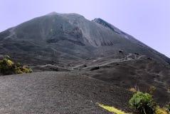 Vegetação no lado de um vulcão imagens de stock royalty free