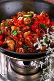 Vegetab colorido chinês delicioso do prato frio do alimento foto de stock royalty free