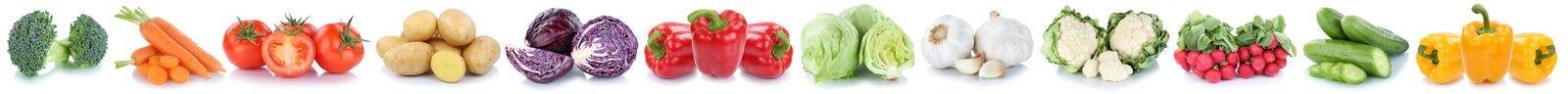 Vegetab della lattuga del cetriolo del peperone dolce dei pomodori delle carote delle verdure Fotografia Stock
