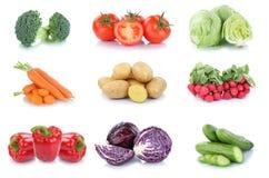 Vegetab della lattuga del peperone dolce del cetriolo dei pomodori delle carote delle verdure Immagini Stock Libere da Diritti
