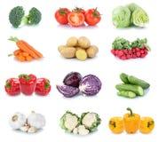 Vegetab della lattuga del peperone dolce del cetriolo dei pomodori delle carote delle verdure Fotografie Stock