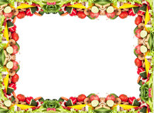 Vegetabe frame Stock Image