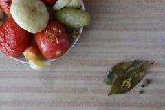 Vegetabeles conservados en vinagre Imágenes de archivo libres de regalías