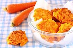Vegetable блинчики сделанные от морковей Стоковая Фотография RF