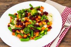 Vegetable гарнир с свеклами Стоковые Фото