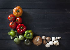 Vegetable граница стоковые фотографии rf