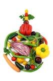 Vegetable глобус рождества стоковые изображения