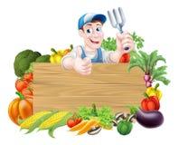 Vegetable знак садовника бесплатная иллюстрация