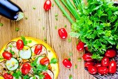 Vegetable здоровая пицца Стоковые Изображения