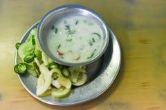 Vegetable и окуная соус стоковые фото