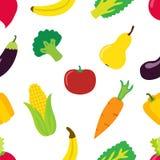 Vegetable картина в плоском стиле Яркие здоровые натуральные продукты Стоковые Изображения