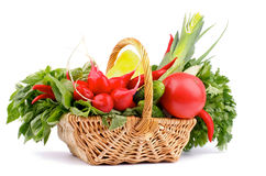 Vegetable корзина Стоковая Фотография