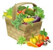Vegetable корзина иллюстрация вектора