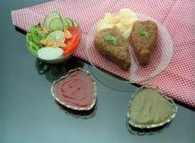 Vegetable котлеты с соусами стоковое фото rf