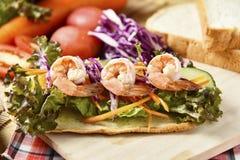 Vegetable крен на деревянной предпосылке, еде диеты потери веса Стоковая Фотография
